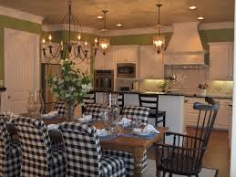 updated transitional country kitchen traditional dining room