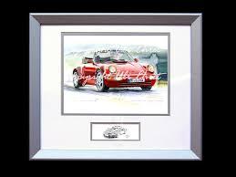 porsche poster vintage porsche poster 911 type 964 turbo cabrio red wood frame aluminum