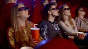 people watching comedy movie in cinema stock video footage