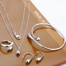 bracelet pendant images 5 pcs silver plated jewelry water drop ring earrings bracelet jpeg