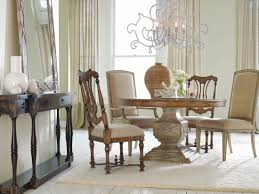 hooker furniture sanctuary 54 in round pedestal dining set in