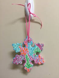 lilly pulitzer custom ornaments by simplysierras on etsy