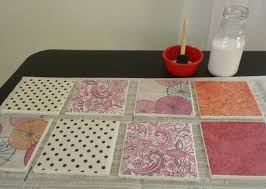 diy tile coasters a great way to use homemade mod podge the