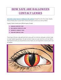 safe halloween contact lenses