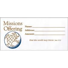 missions offering envelopes box of 100