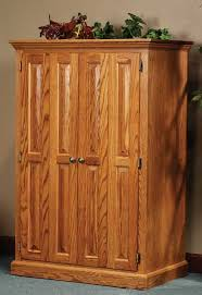 Computer Desk Armoire Oak 33 Off Heirwood Computer Armoire In Oak Solid Wood Amish Furniture