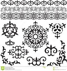 kazakh patterns stock vector image of ethnic geometric 62771933