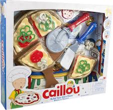 caillou build your own pizza play set toys