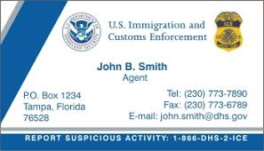 policebusinesscards display business cards