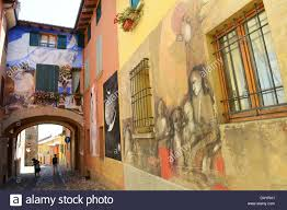 murals public art painting stock photos murals public art the italian hilltop village of dozza in italy known for its festival of wall mural painting