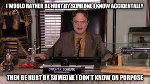 Dwight Meme - livememe com dwight schrute weapon logic