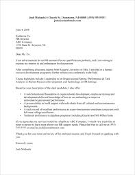 cover letter examples for graduate
