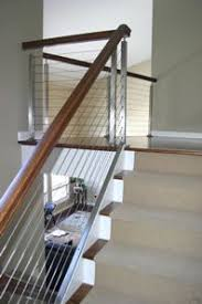 Railing Banister Tension Wire Stair Railing Traditional Home Lafrance