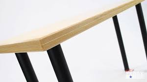 Simple Office Table Diy Office Desk W Baltic Birch Top Ep72