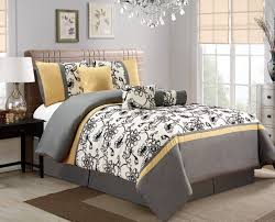 Modern Bedding Sets Queen Black And White Floral Bed Sheets