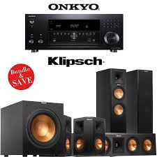 klipsch reference home theater system amazon com onkyo tx rz900 7 2 channel network home theater