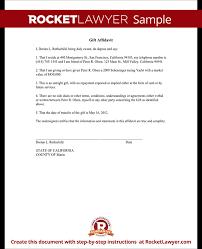 gift affidavit form affidavit of gift template with sample