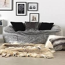 icon kenai cloud luxury extra large soft faux fur bean bag chair