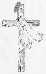 realistic drawings of jesus on the cross cross hand drawn vector