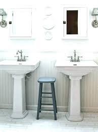 Bathroom Pedestal Sink Storage Bathroom Pedestal Sink Soundbubble Club