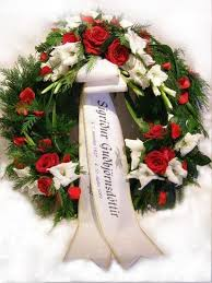 funeral wreaths funeral wreath with three decorations white gladiolus and