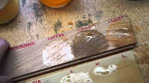 How To Lighten Stained Wood by Vinegar Stain Results On Oak And Poplar Youtube