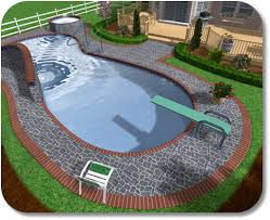 Pool And Patio Decorating Ideas by Small Backyard Inground Pool Design Pool And Patio Decorating