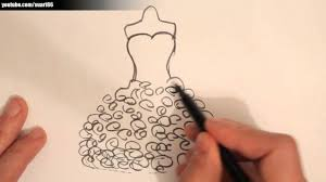 drawing wedding dresses how to draw a wedding dress