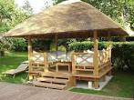 Comfortable Tropical Wooden Gazebo | fascinating interior design ...