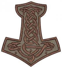 mjolnir thor s hammer embroidered patch 6