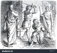 old engraving execution st paul book stock photo 86189710