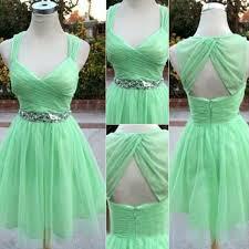 mint green homecoming dress sequins prom dress mini dress fashion