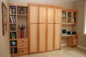 Shelves Built Into Wall Custom Made Maple Wall Bed By Culbertson Design Custommade Com