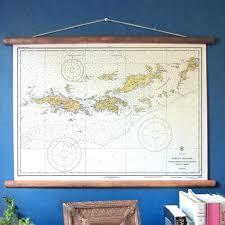 Bvi Flag Virgin Islands Usvi U0026 B V I Vintage Nautical Chart U2013 My Signal