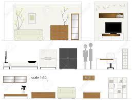 living room furniture design arredamento interni illustrazione