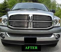 2007 dodge ram grille amazon com 2003 2009 dodge ram chrome grille grill kit 2004 2005