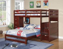twin over full l shaped bunk bed with stairs u2014 modern storage twin