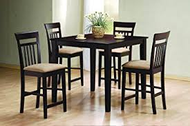 amazon counter height table amazon com coaster home furnishings 5 piece modern transitional
