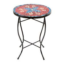 16 blue flower mosaic table tree shops andthat