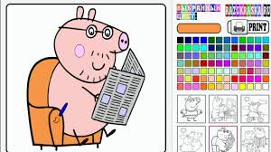 coloriage peppa pig livre de coloriage peppa pig partie 06 youtube