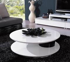 table modern round coffee with storage rustic medium danish glass