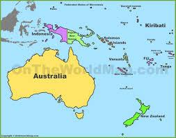 location of australia on world map oceania maps maps of oceania ontheworldmap
