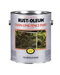 rust oleum stops rust metallic silver chain link fence paint 1
