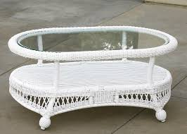 Wicker Patio Coffee Table White Wicker Coffee Table Coffee Tables Thippo