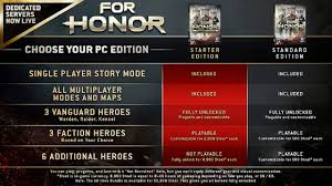 ubisoft announces year 3 ubisoft announces for honor pc starter edition for 15 xbox one
