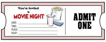 movie night invitations template movie ticket invitation free printable u2013 orderecigsjuice info