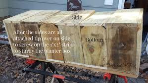 create a rustic picket garden planter box for under 15