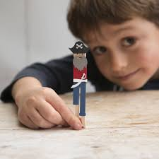 make your own pirate peg doll kit by cotton twist