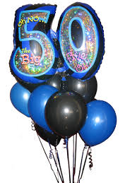 50th birthday balloon bouquets 50th balloons party favors ideas