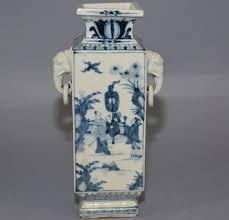 elephant vase ceramic japanese antique 19th c kutani rare blue and white porcelain vase